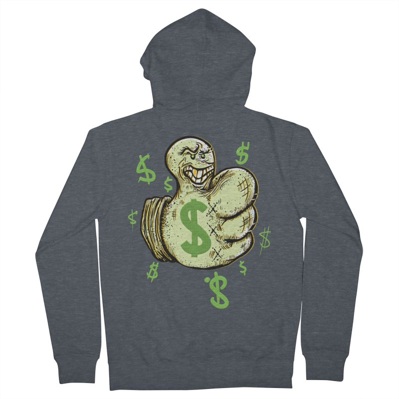 Thumb$ UP Women's Zip-Up Hoody by JP$ Artist Shop