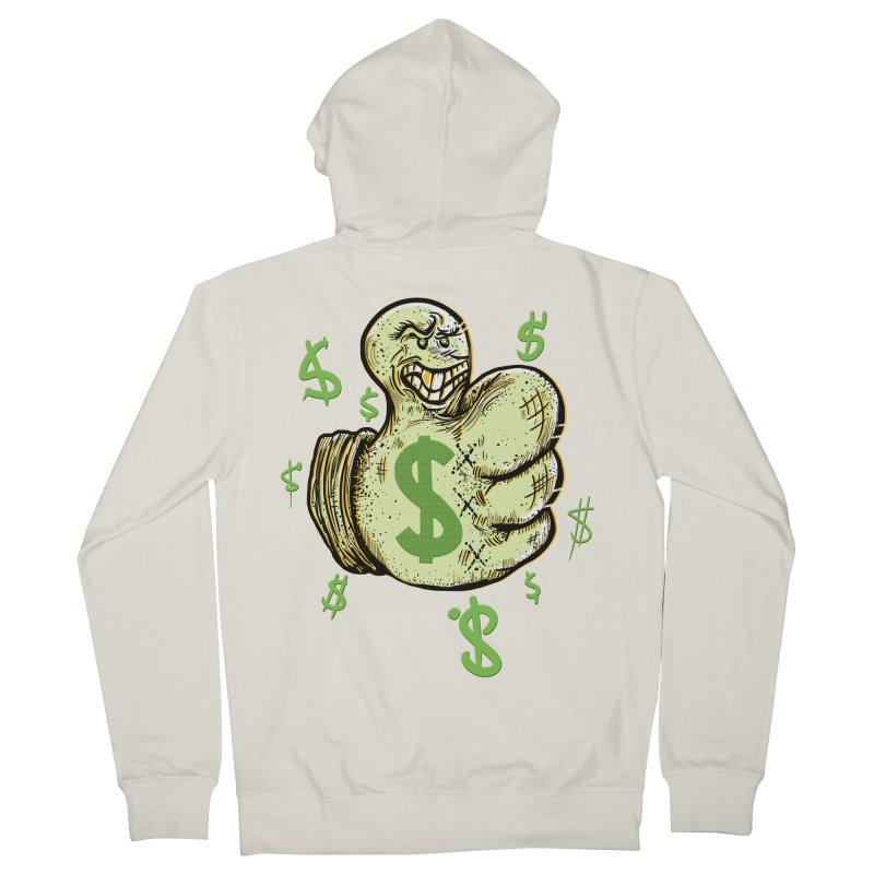 Thumb$ UP Men's Zip-Up Hoody by JP$ Artist Shop