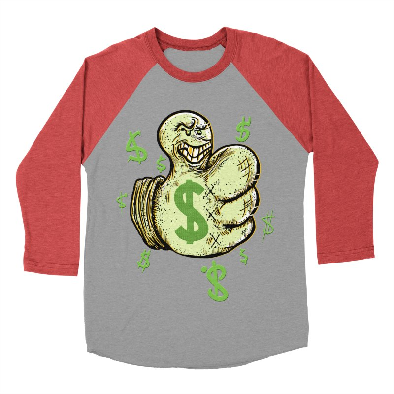 Thumb$ UP Men's Baseball Triblend T-Shirt by JP$ Artist Shop