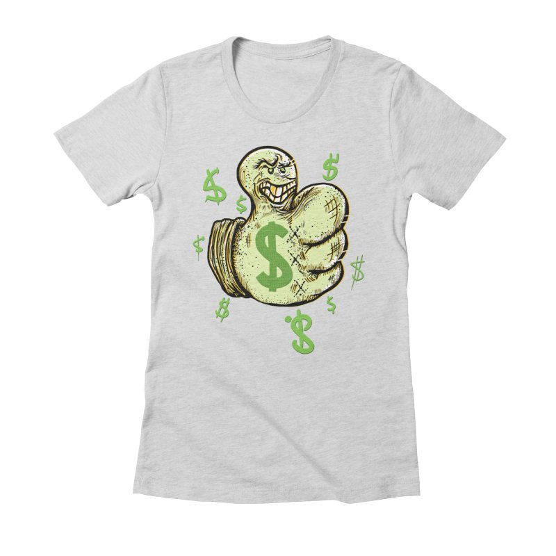 Thumb$ UP Women's Fitted T-Shirt by JP$ Artist Shop