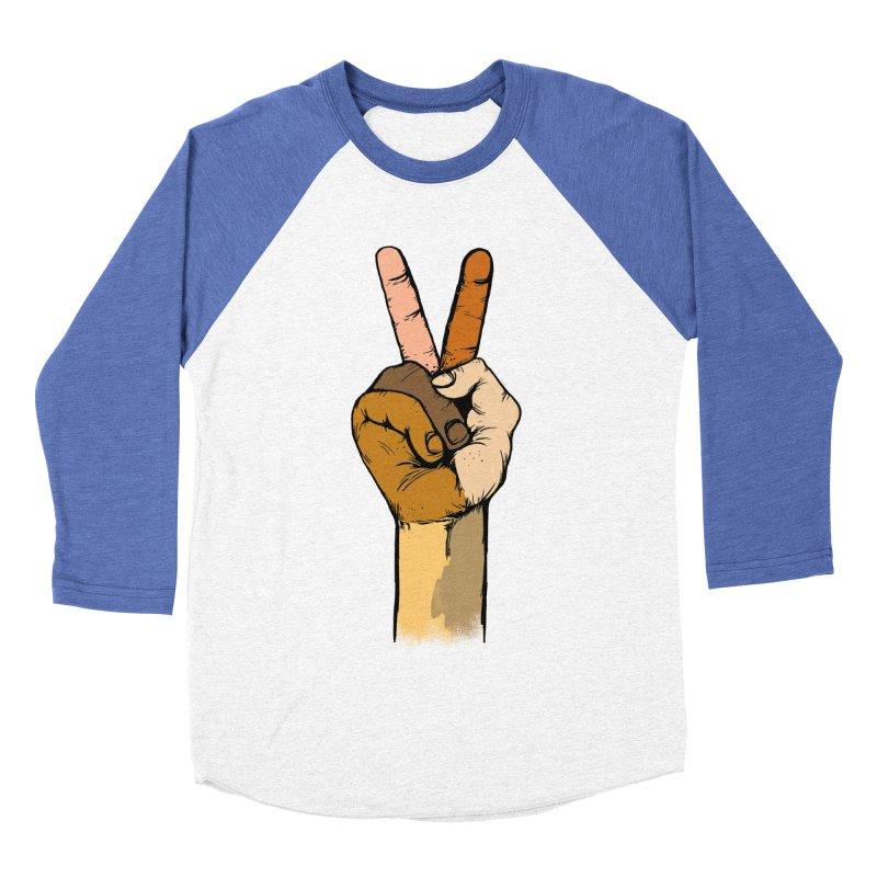 The Color of Peace. Men's Baseball Triblend T-Shirt by JP$ Artist Shop