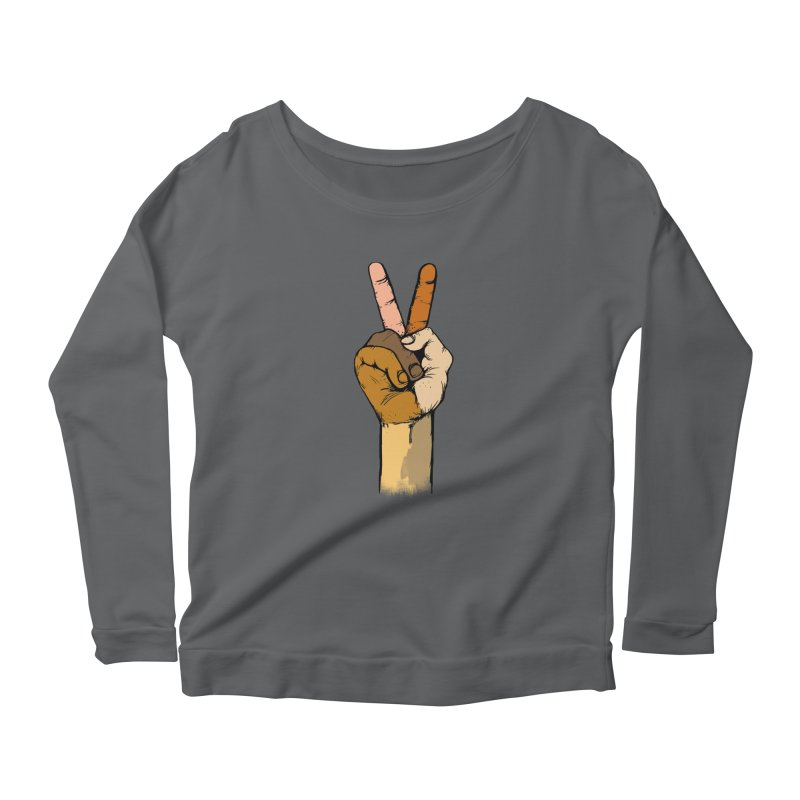 The Color of Peace. Women's Longsleeve Scoopneck  by JP$ Artist Shop