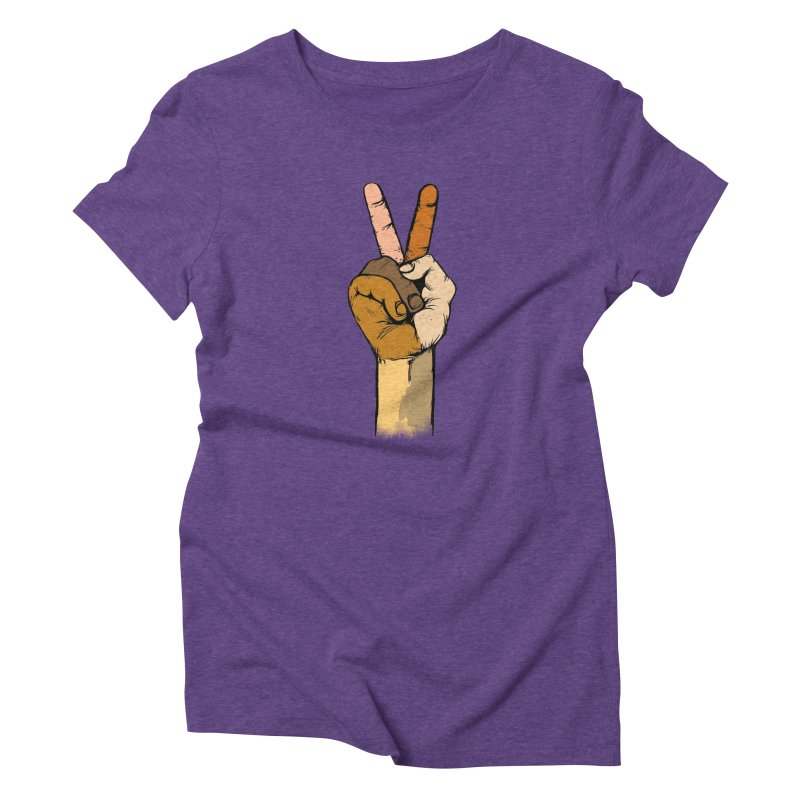The Color of Peace. Women's Triblend T-shirt by JP$ Artist Shop