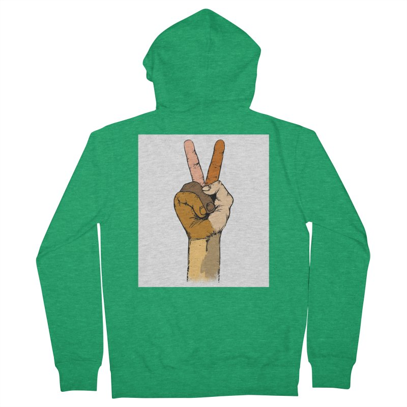 The Color of Peace. Women's Zip-Up Hoody by JP$ Artist Shop
