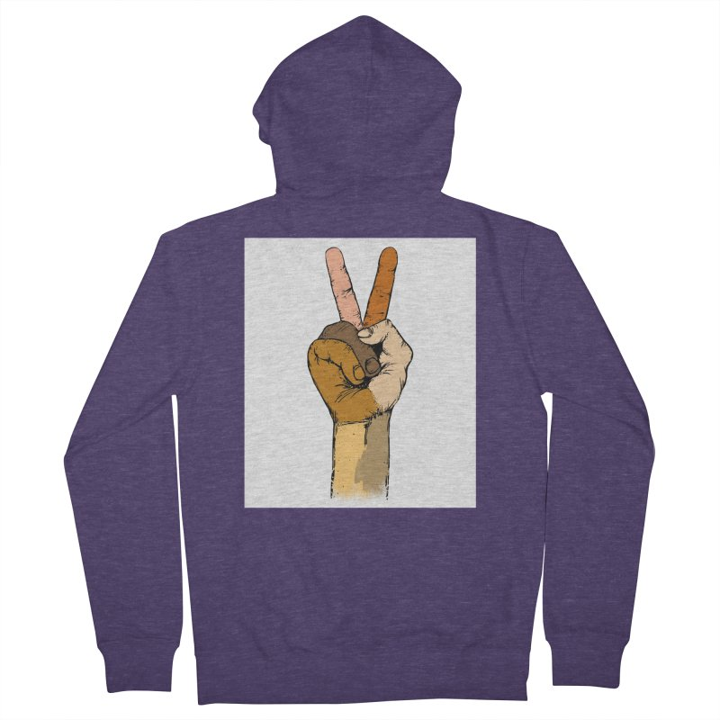 The Color of Peace. Men's Zip-Up Hoody by JP$ Artist Shop