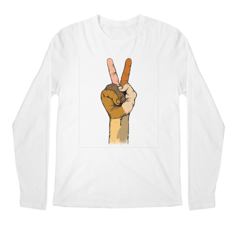 The Color of Peace. Men's Longsleeve T-Shirt by JP$ Artist Shop