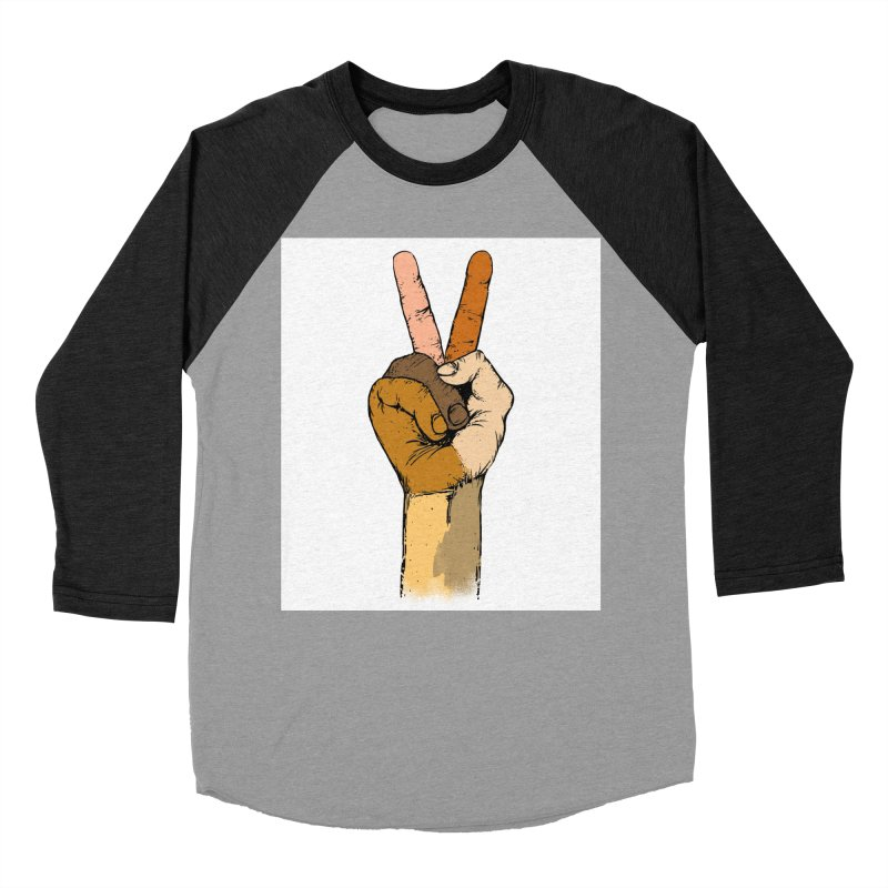 The Color of Peace. Women's Baseball Triblend T-Shirt by JP$ Artist Shop