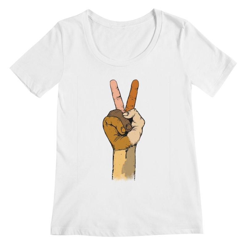 The Color of Peace. Women's Scoopneck by JP$ Artist Shop