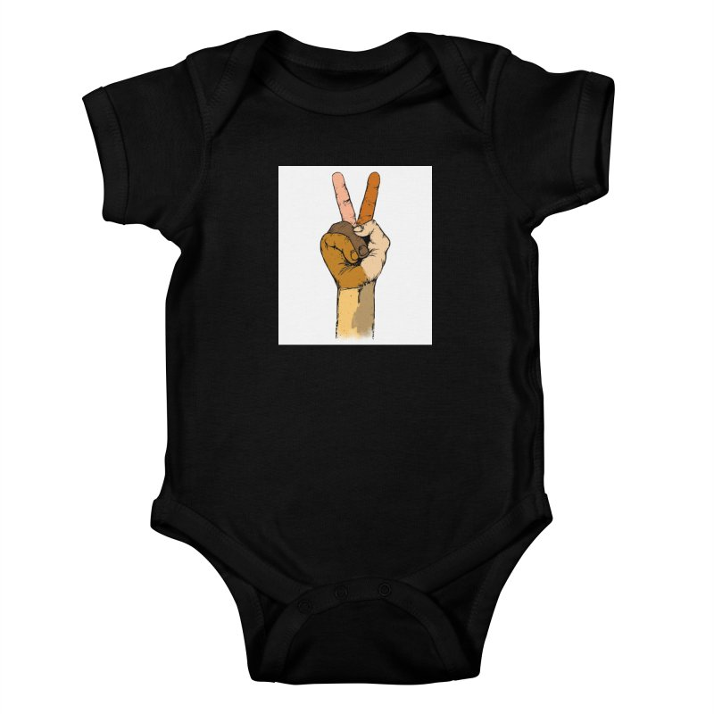 The Color of Peace. Kids Baby Bodysuit by JP$ Artist Shop