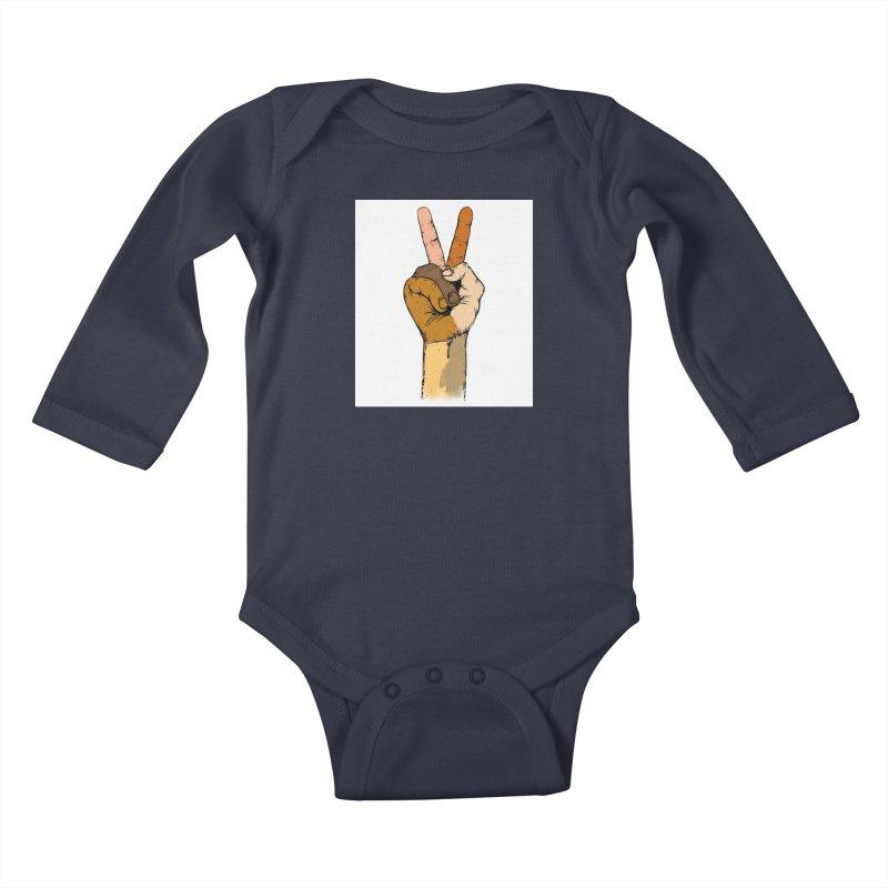 The Color of Peace. Kids Baby Longsleeve Bodysuit by JP$ Artist Shop