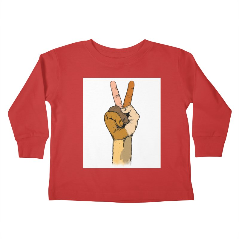 The Color of Peace. Kids Toddler Longsleeve T-Shirt by JP$ Artist Shop