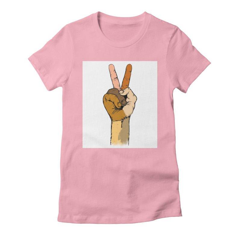The Color of Peace. Women's Fitted T-Shirt by JP$ Artist Shop