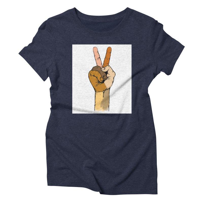 The Color of Peace. Women's Triblend T-shirt by JP$ Artist Shop