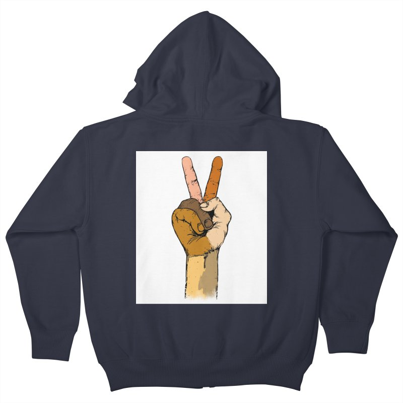 The Color of Peace. Kids Zip-Up Hoody by JP$ Artist Shop
