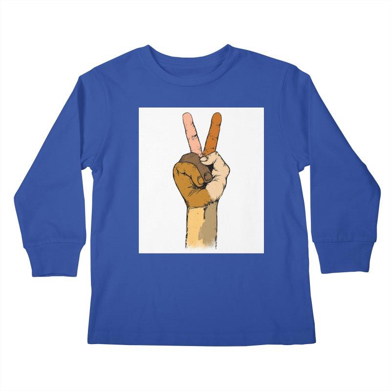 The Color of Peace. Kids Longsleeve T-Shirt by JP$ Artist Shop