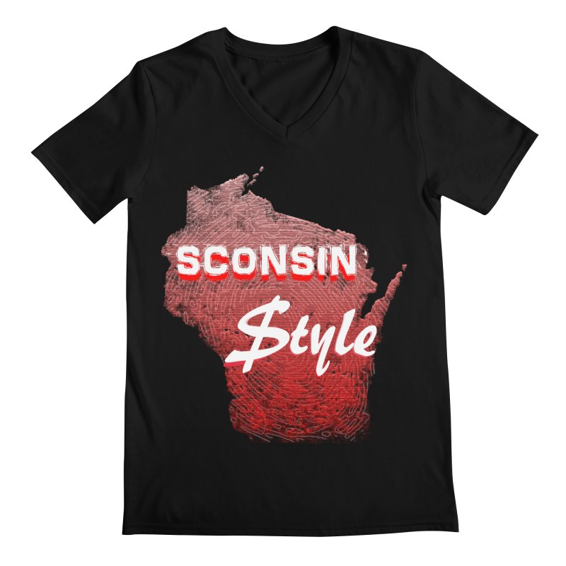 sconsin $tyle. Men's V-Neck by JP$ Artist Shop