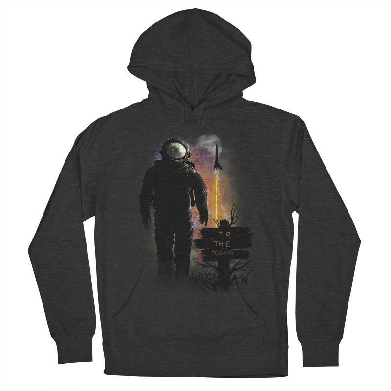 To the Moon Men's Pullover Hoody by JP$ Artist Shop