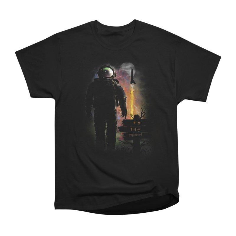 To the Moon Women's Heavyweight Unisex T-Shirt by JP$ Artist Shop