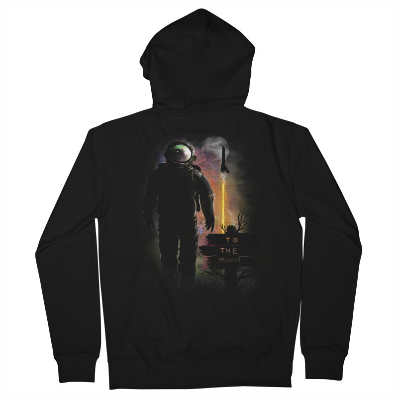 To the Moon Women's Zip-Up Hoody by JP$ Artist Shop