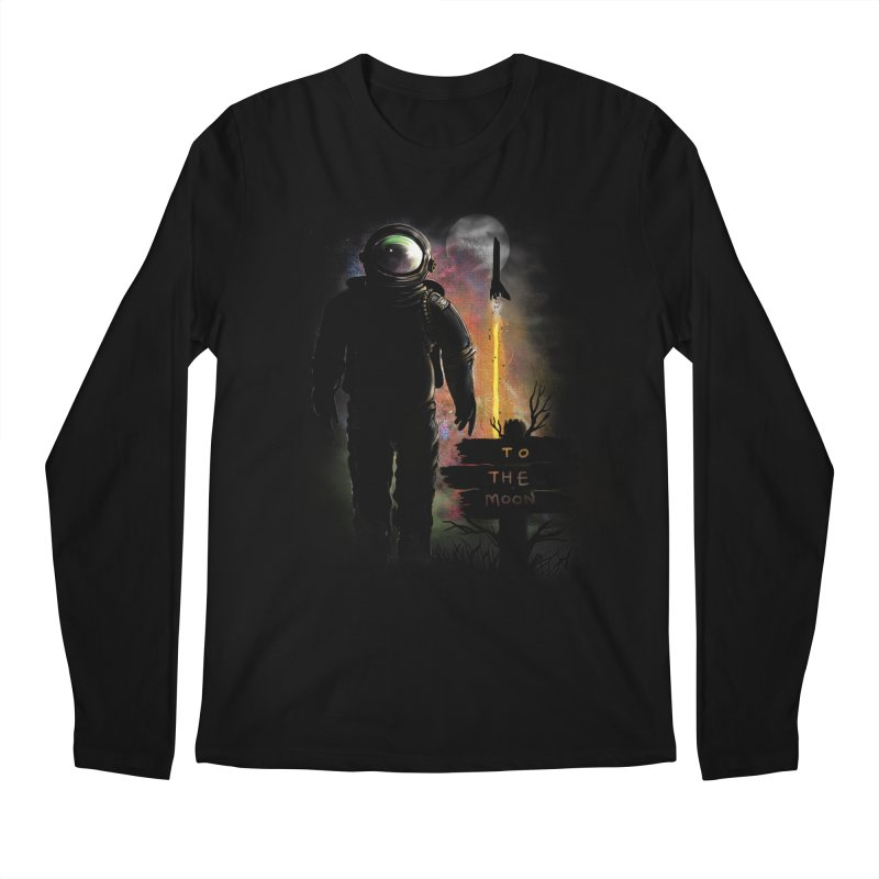 To the Moon Men's Longsleeve T-Shirt by JP$ Artist Shop
