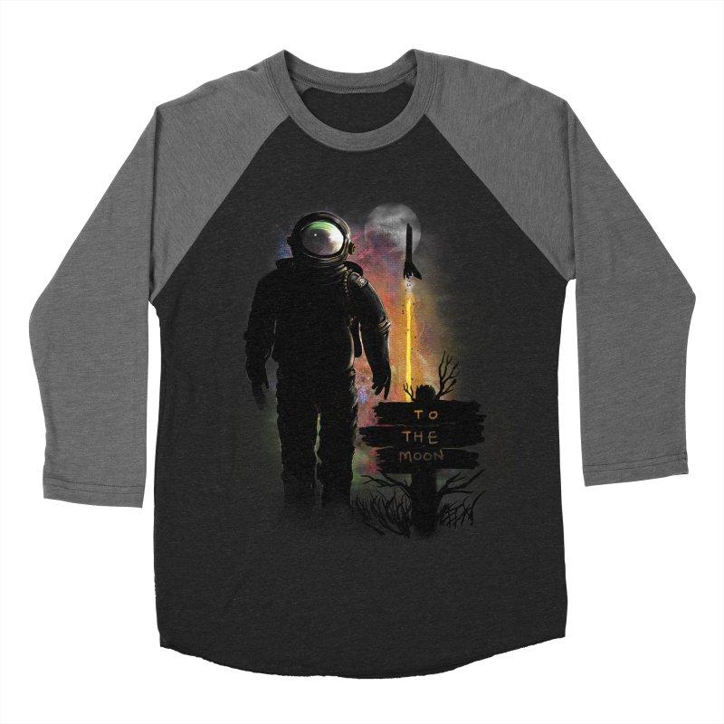 To the Moon Women's Baseball Triblend T-Shirt by JP$ Artist Shop