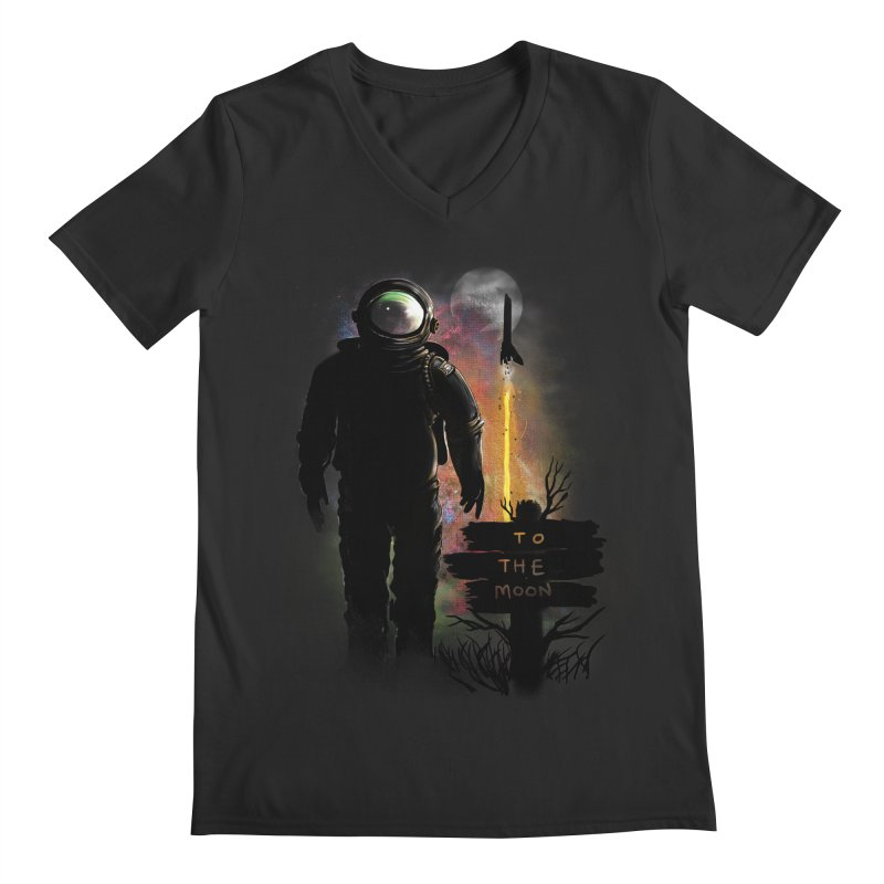 To the Moon Men's V-Neck by JP$ Artist Shop