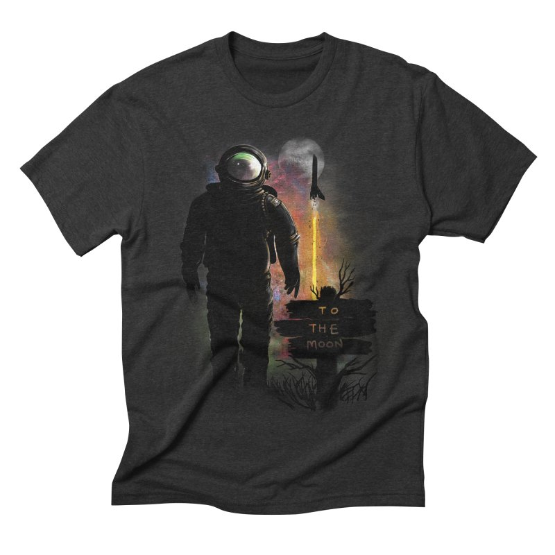 To the Moon Men's Triblend T-shirt by JP$ Artist Shop
