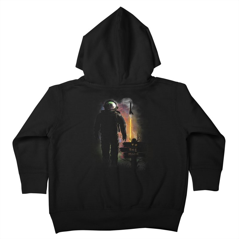 To the Moon Kids Toddler Zip-Up Hoody by JP$ Artist Shop