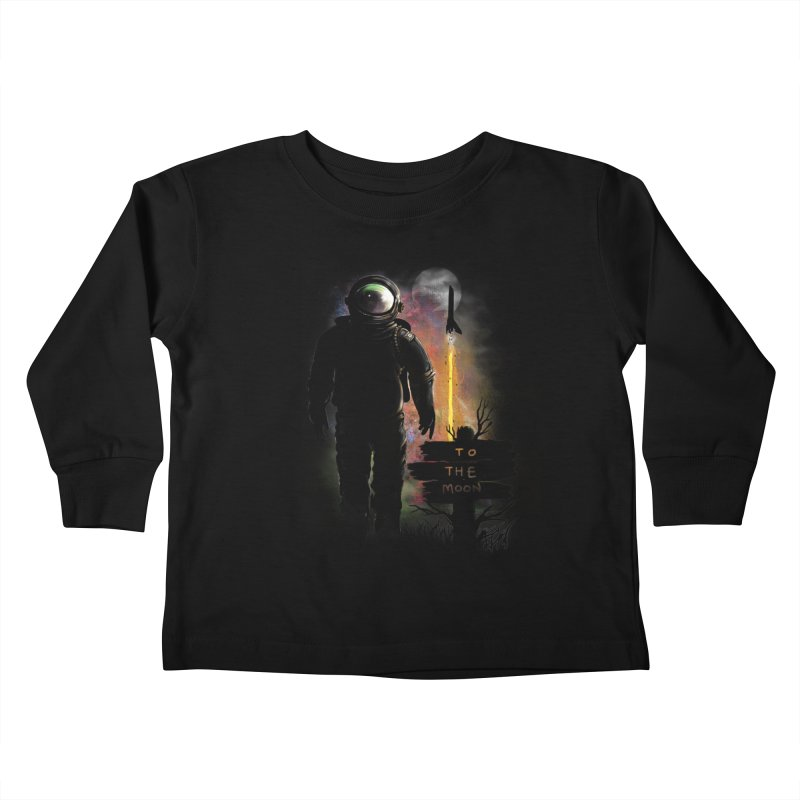 To the Moon Kids Toddler Longsleeve T-Shirt by JP$ Artist Shop
