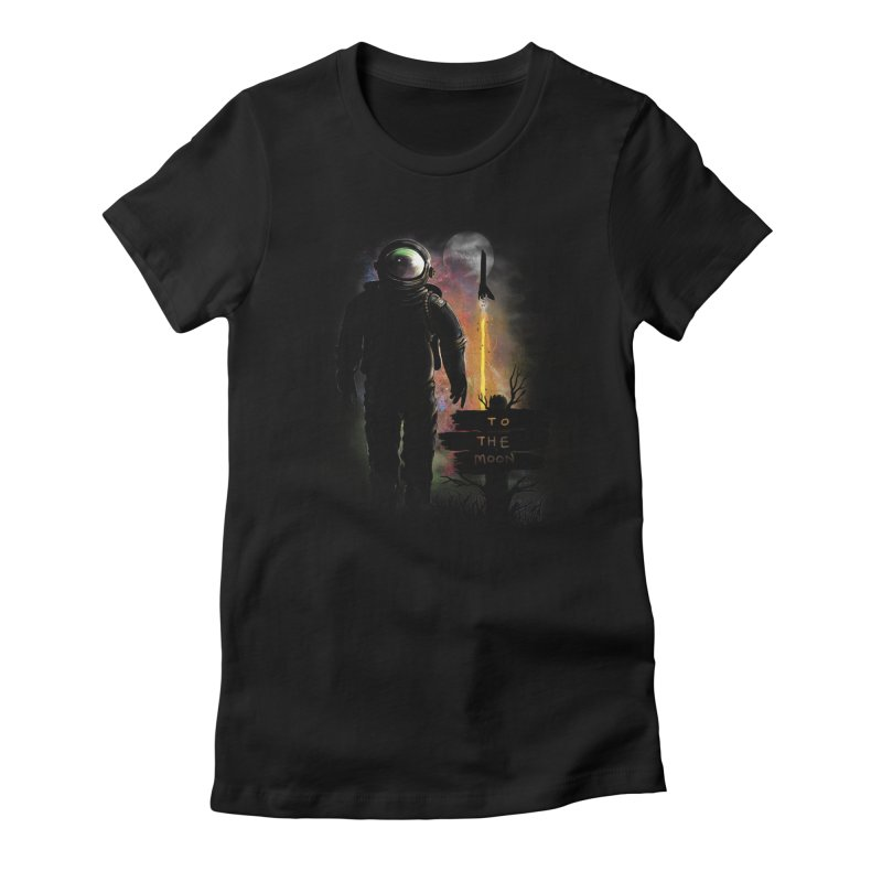 To the Moon Women's Fitted T-Shirt by JP$ Artist Shop