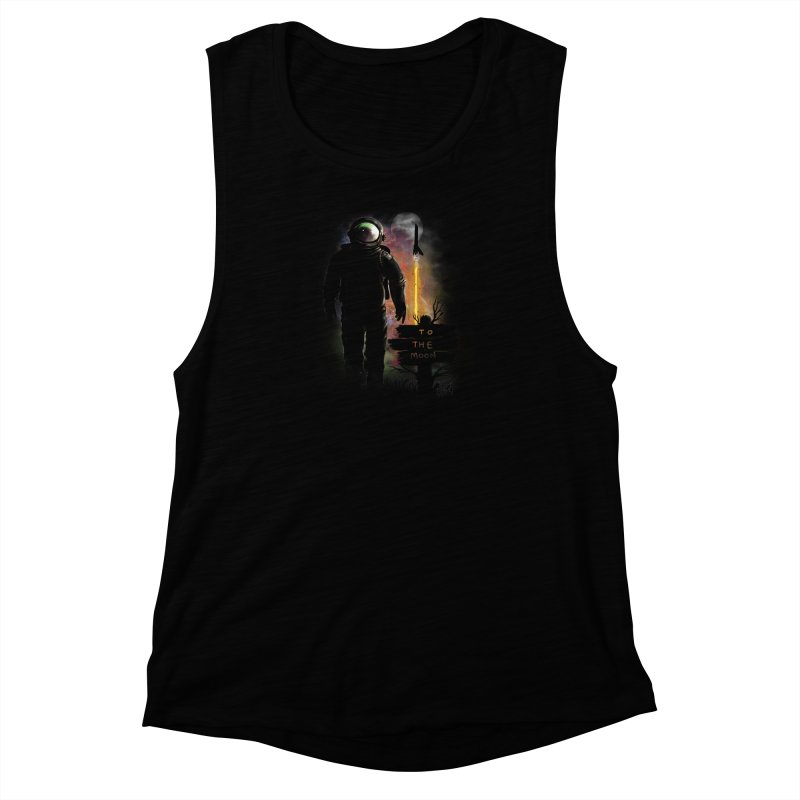 To the Moon Women's Muscle Tank by JP$ Artist Shop