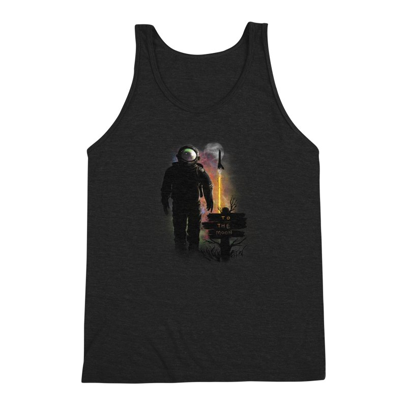 To the Moon Men's Triblend Tank by JP$ Artist Shop