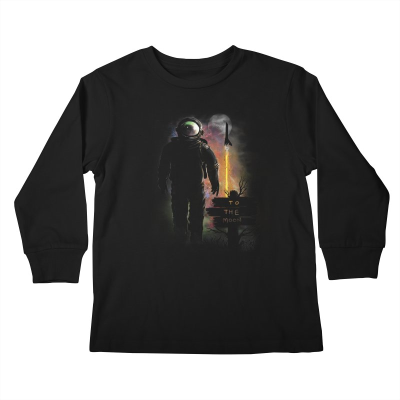 To the Moon Kids Longsleeve T-Shirt by JP$ Artist Shop