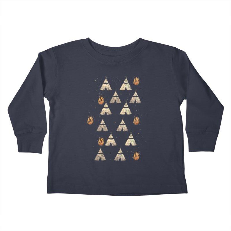 teepee tent Kids Toddler Longsleeve T-Shirt by JP$ Artist Shop