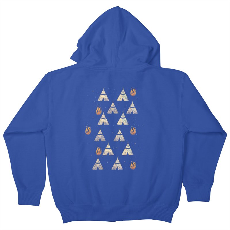 teepee tent Kids Zip-Up Hoody by JP$ Artist Shop
