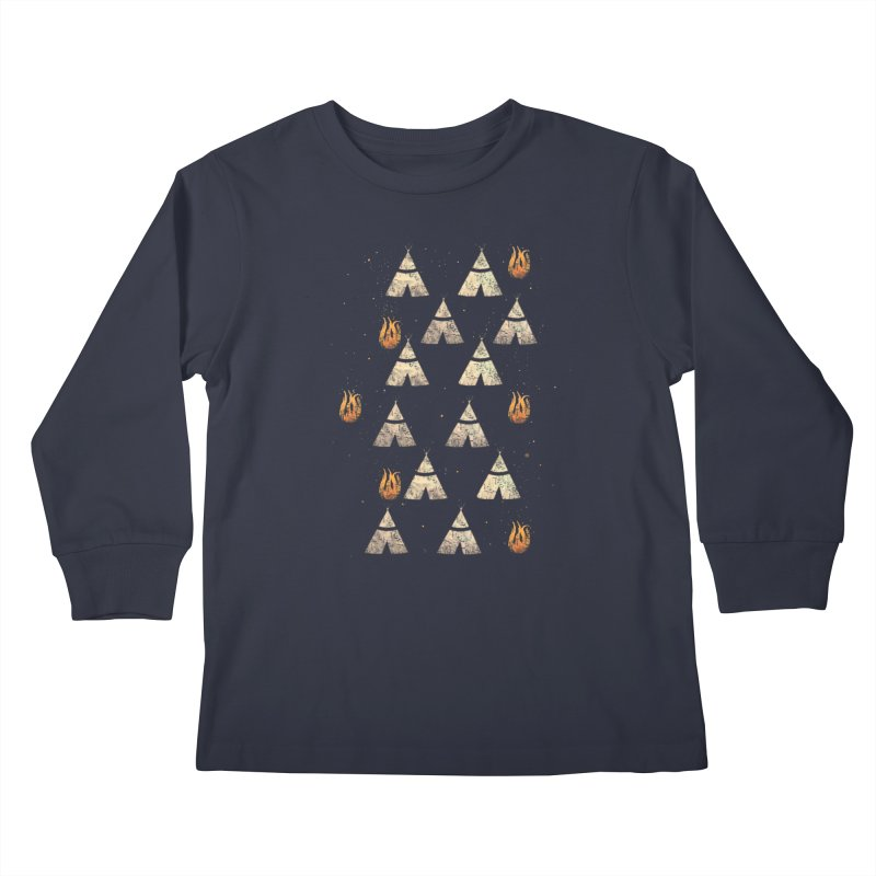 teepee tent Kids Longsleeve T-Shirt by JP$ Artist Shop
