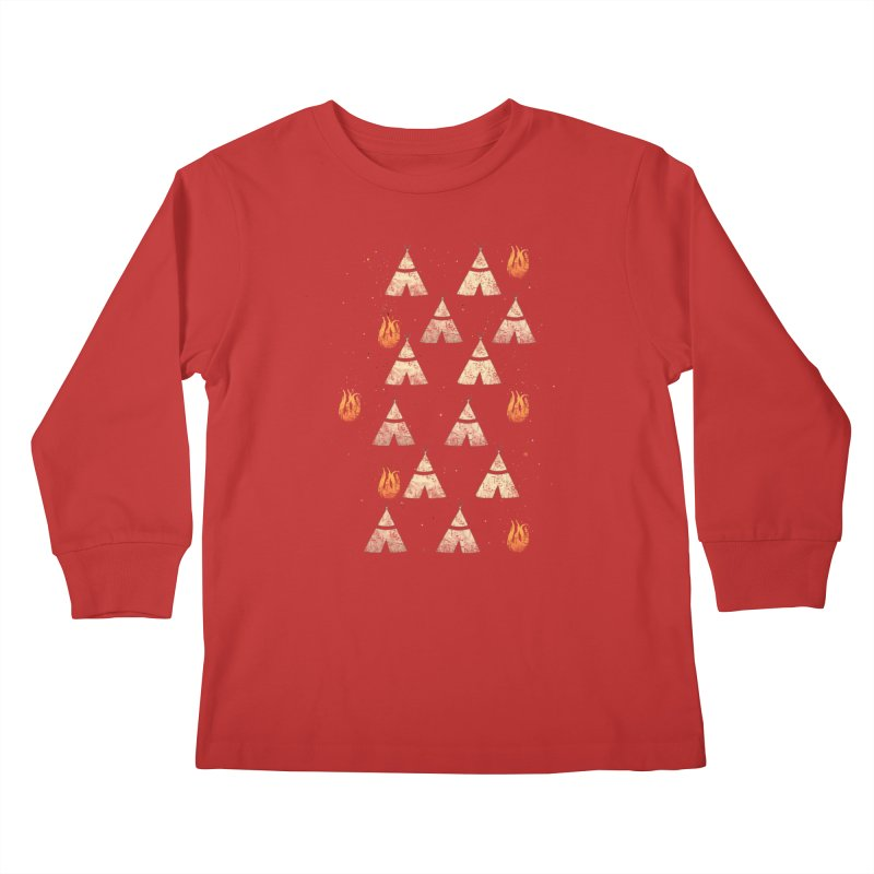 teepee tent Kids Longsleeve T-Shirt by JP$ Artist Shop