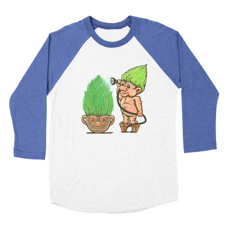 Planter Troll Women's Baseball Triblend T-Shirt by JP$ Artist Shop