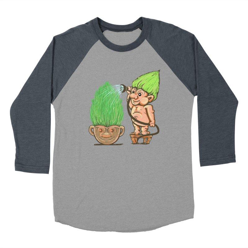 Planter Troll Women's Baseball Triblend T-Shirt by JP$ Artist Shop