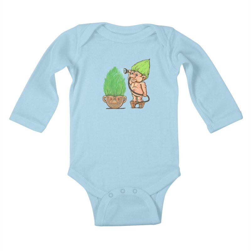 Planter Troll Kids Baby Longsleeve Bodysuit by JP$ Artist Shop