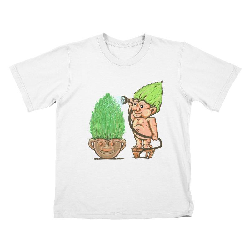 Planter Troll Kids T-Shirt by JP$ Artist Shop