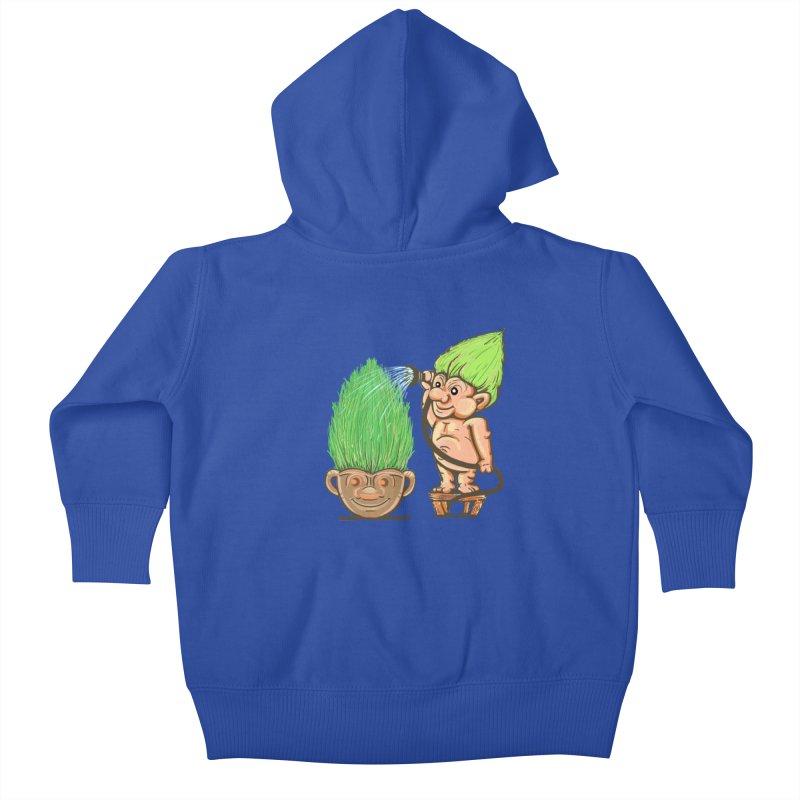 Planter Troll Kids Baby Zip-Up Hoody by JP$ Artist Shop