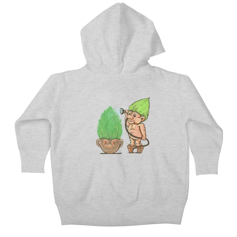 Planter Troll Kids Baby Zip-Up Hoody by JP$ Artist Shop