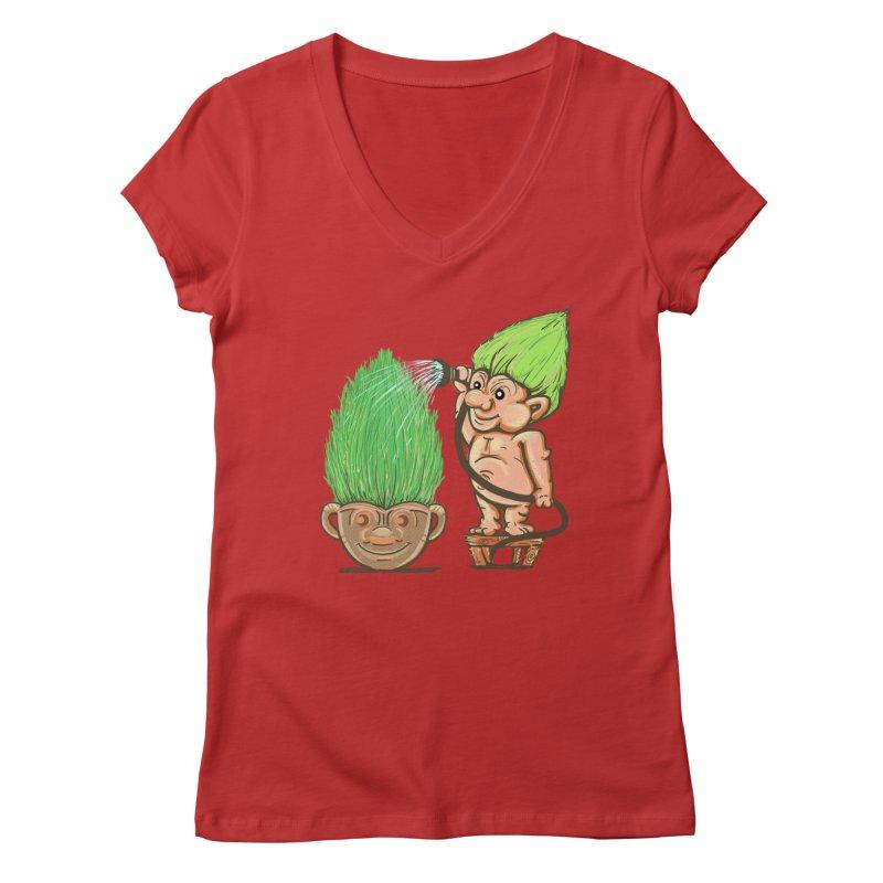 Planter Troll Women's V-Neck by JP$ Artist Shop