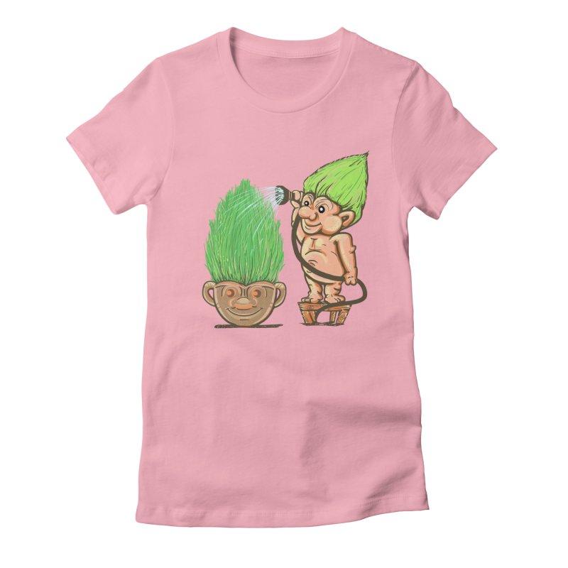 Planter Troll Women's Fitted T-Shirt by JP$ Artist Shop