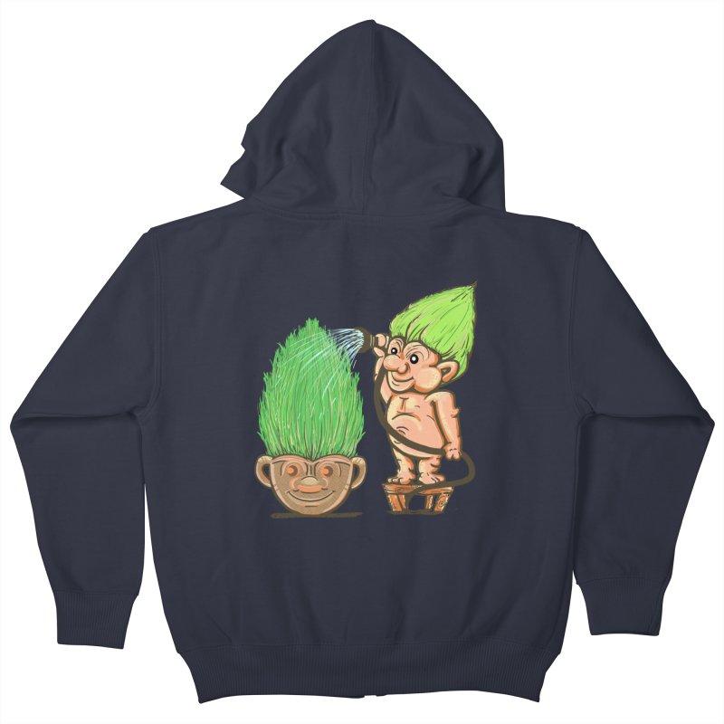 Planter Troll Kids Zip-Up Hoody by JP$ Artist Shop