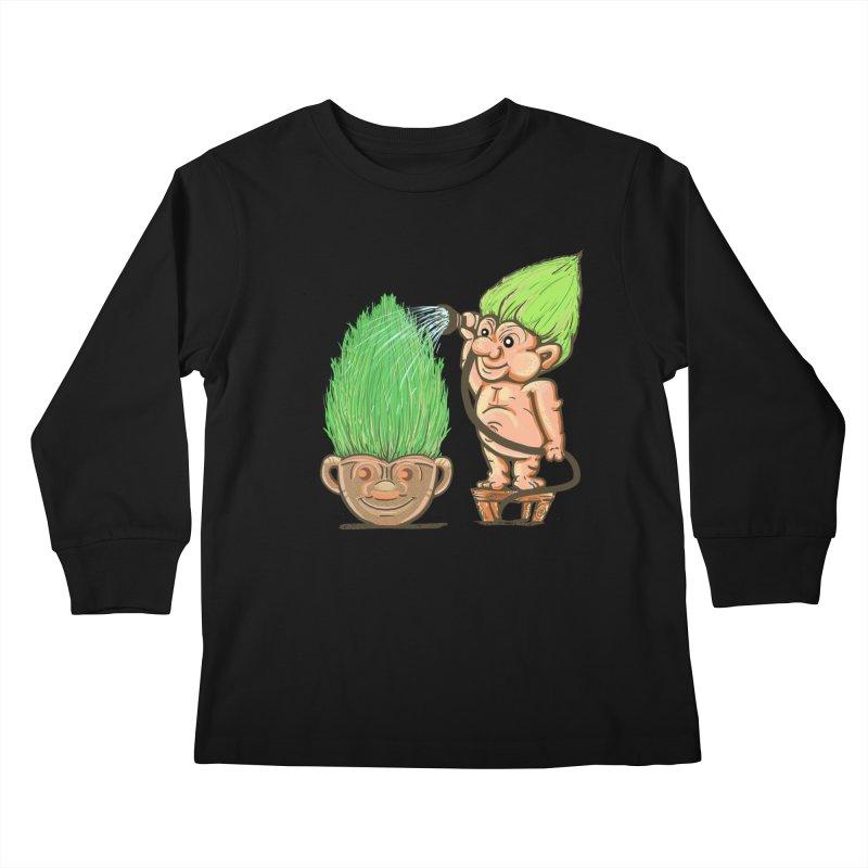 Planter Troll Kids Longsleeve T-Shirt by JP$ Artist Shop
