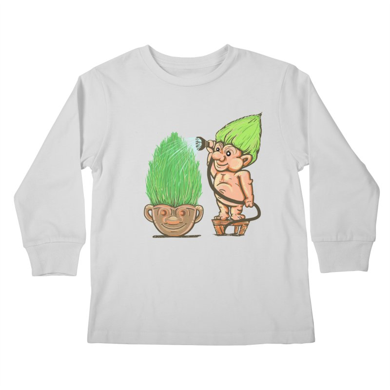 Planter Troll Kids Longsleeve T-Shirt by JP$ Artist Shop