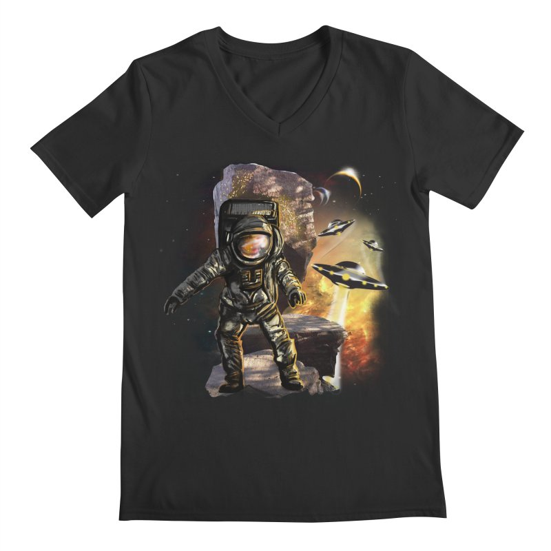 A tight spot in space Men's V-Neck by JP$ Artist Shop