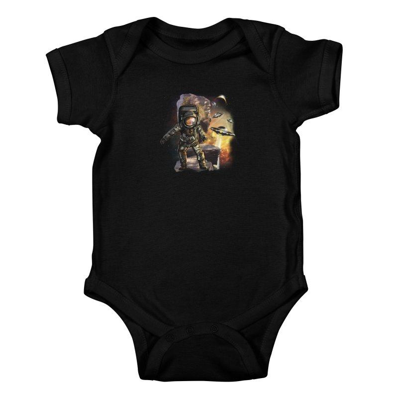 A tight spot in space Kids Baby Bodysuit by JP$ Artist Shop